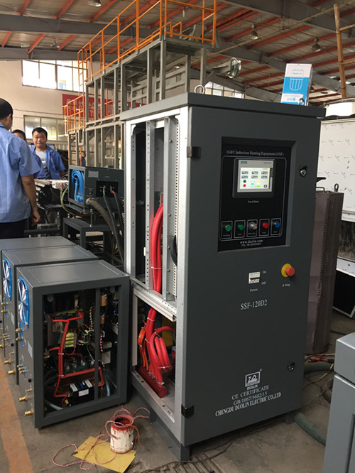 Bar end induction heating for fasteners manufacture