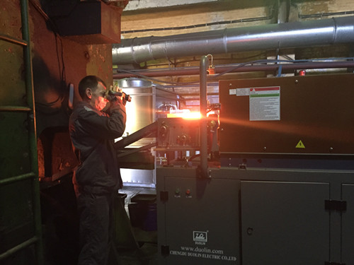 Duolin installed 600KW induction heating furnace in Russia